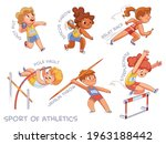 Sport Of Athletics. Set. Shot...