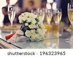 champagne wedding bouquet | Shutterstock . vector #196323965