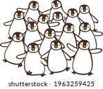 image illustration of a flock... | Shutterstock .eps vector #1963259425