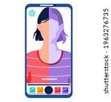 filters for selfie screen... | Shutterstock .eps vector #1963276735