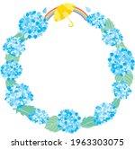 round frame of the blue... | Shutterstock .eps vector #1963303075