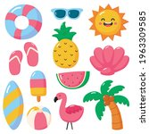 hello summer icons isolated on... | Shutterstock .eps vector #1963309585