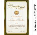 certificate template   Shutterstock .eps vector #196331795