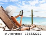 best device to read under sun | Shutterstock . vector #196332212