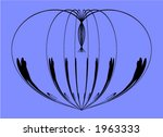 curved lines on a blue... | Shutterstock .eps vector #1963333