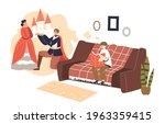 little boy reading tales from...   Shutterstock .eps vector #1963359415