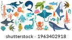 fish and wild marine animals... | Shutterstock .eps vector #1963402918