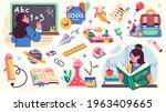 collection of school... | Shutterstock .eps vector #1963409665