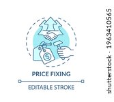 price fixing concept icon. anti ... | Shutterstock .eps vector #1963410565