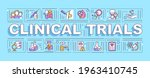 clinical trials word concepts...