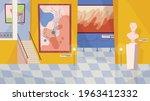 museum exhibition room interior ...   Shutterstock .eps vector #1963412332