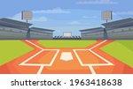 baseball stadium view  banner... | Shutterstock .eps vector #1963418638