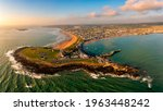Small photo of Aerial view Skerries is a coastal town in Fingal, Ireland. Historically Skerries was a fishing port and later a centre of hand embroidery. Dublin Ireland St. Patrick's colt shenick islands