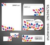 corporate design with... | Shutterstock .eps vector #196346726
