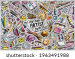 colorful vector hand drawn... | Shutterstock .eps vector #1963491988