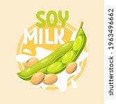 vector soybean in cartoon style ... | Shutterstock .eps vector #1963496662