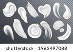realistic cosmetic cream smears ... | Shutterstock .eps vector #1963497088