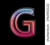 neon light alphabet g with...   Shutterstock . vector #1963502122