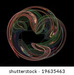 a fractal with an artistic... | Shutterstock . vector #19635463