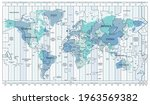time zone blue map. detailed... | Shutterstock .eps vector #1963569382