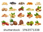 Nuts  Seeds And Grains Icons...