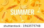 hellow summer yellow mono color ...   Shutterstock .eps vector #1963575748