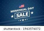 memorial day sale vector... | Shutterstock .eps vector #1963576072