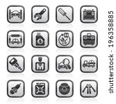 car parts and services icons  ... | Shutterstock .eps vector #196358885