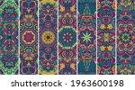 mandala pattern banner set with ...   Shutterstock .eps vector #1963600198