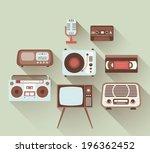 vector 2d flat retro... | Shutterstock .eps vector #196362452