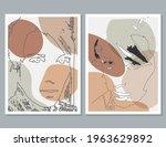 modern art face. set of... | Shutterstock .eps vector #1963629892