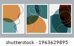 scandinavian design. modern art ... | Shutterstock .eps vector #1963629895