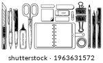 vintage stationery elements... | Shutterstock .eps vector #1963631572