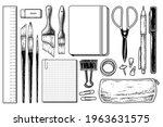 vintage stationery elements... | Shutterstock .eps vector #1963631575