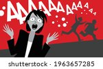 horror movie. frightened people.... | Shutterstock .eps vector #1963657285