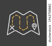 map with route vector icon on...