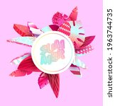 bright banner with 3d colorful... | Shutterstock .eps vector #1963744735