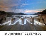 li yu tan reservoir in miaoli ... | Shutterstock . vector #196374602