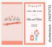 two sides of the wedding... | Shutterstock .eps vector #196374752