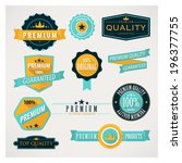 flat labels. | Shutterstock .eps vector #196377755