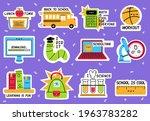school stickers. back to school ... | Shutterstock .eps vector #1963783282