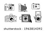 hand drawn camera. photography...   Shutterstock .eps vector #1963814392