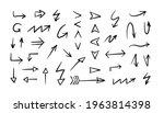 doodle arrows. hand drawn set...   Shutterstock .eps vector #1963814398