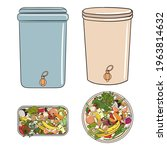 set of composting bins with...   Shutterstock .eps vector #1963814632