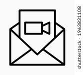 video message icon. send video...