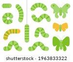 various cartoon caterpillars... | Shutterstock .eps vector #1963833322