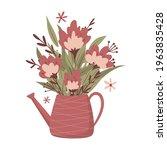 bouquet of flowers in a jug....   Shutterstock .eps vector #1963835428