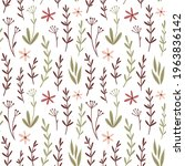 seamless floral vector pattern. ...   Shutterstock .eps vector #1963836142