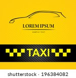 taxi | Shutterstock .eps vector #196384082