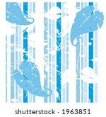 grunge leaves over stripes | Shutterstock .eps vector #1963851